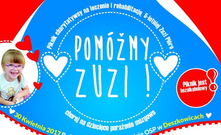 Pomóżmy Zuzi (plakat organizatora)