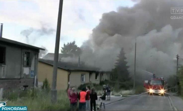 Płonął pustostan przy Legnickiej w Gdańsku