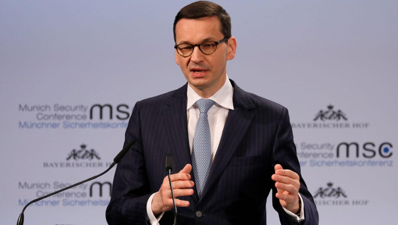 Premier wziął w sobotę udział w Konferencji Bezpieczeństwa w Monachium (fot. PAP/EPA/RONALD WITTEK)