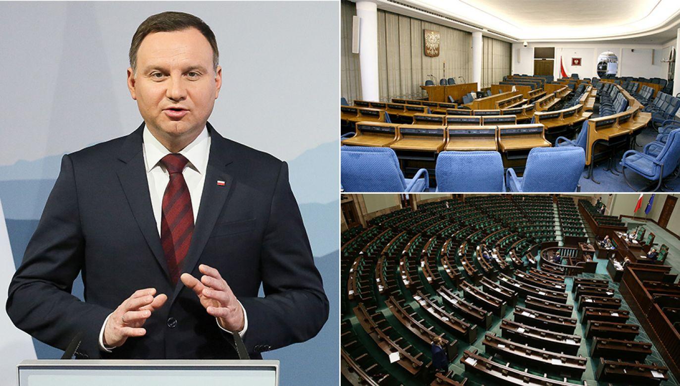 Pozytywnie prezydenturę Andrzeja Dudy ocenia 65 proc. badanych; 64 proc. negatywnie ocenia pracę Sejmu