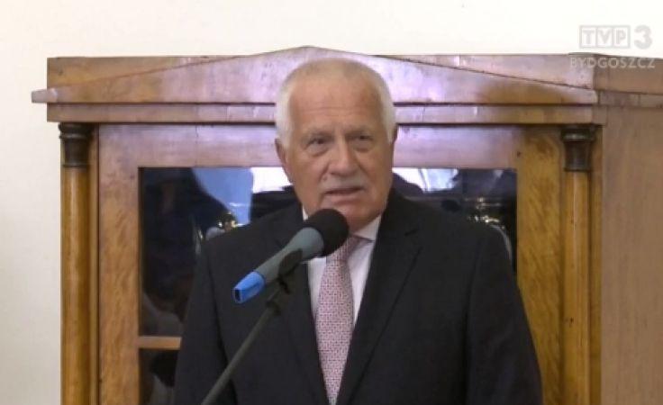 Vaclav Klaus z wizytą w Toruniu