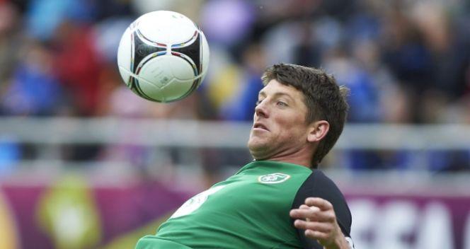 Keiren Westwood podczas treningu reprezentacji Irlandii (fot. PAP/Adam Warżawa)