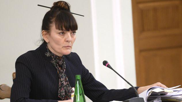 Prok. Katarzyna Brzezińska przed komisją (fot. PAP/Jacek Turczyk)