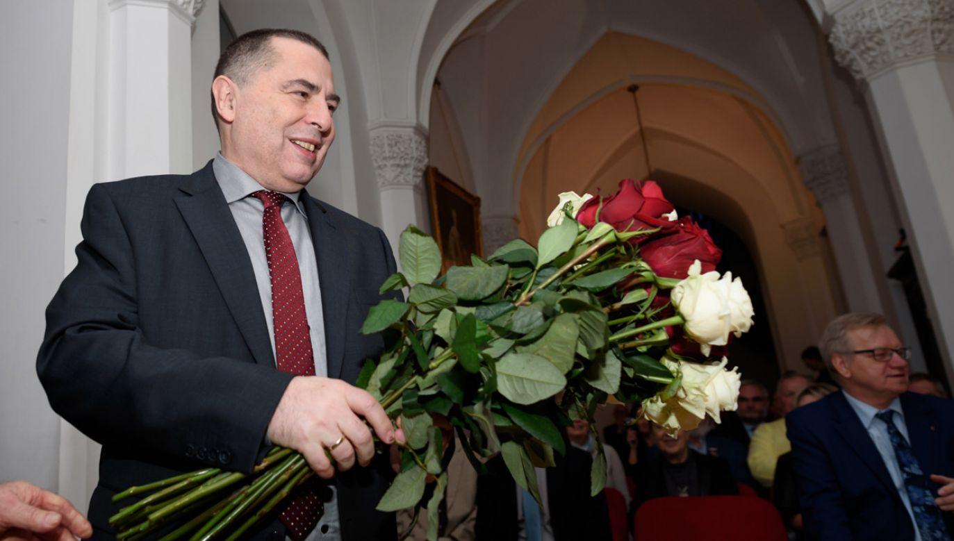 Uroczyste wręczenie nagrody nastąpiło w Bibliotece Polskiej Akademii Nauk w Kórniku (fot. PAP/Jakub Kaczmarczyk)