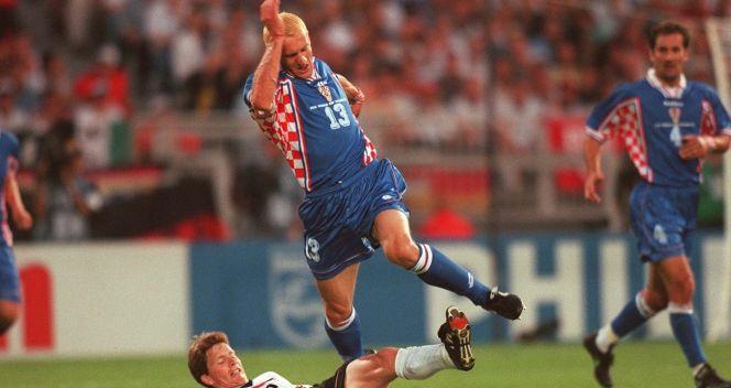 Mario Stanić zdobył pierwszą bramkę dla Chorwacji podcza mundialu we Francji (fot. Getty Images)