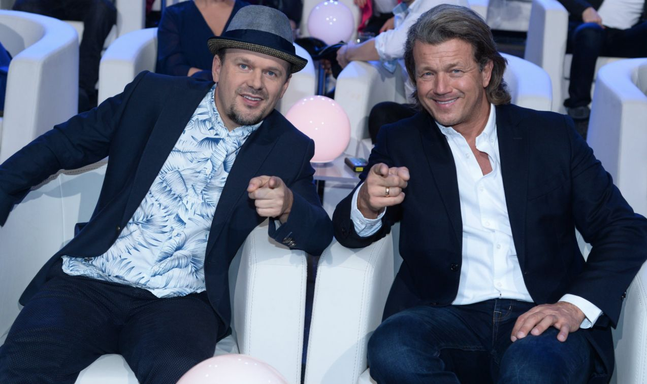 W doborowych humorach współpracowali Krzysztof Kasowski i Jarosław Jakimowicz (fot. TVP/J. Bogacz)
