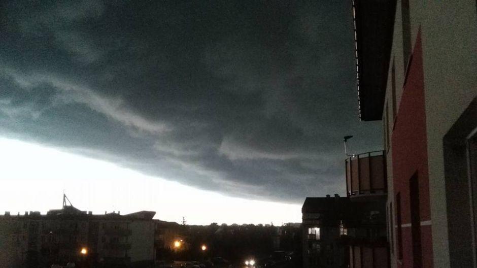 Ciemne chmury nad Pławą (fot.Twoje Info/Paweł)
