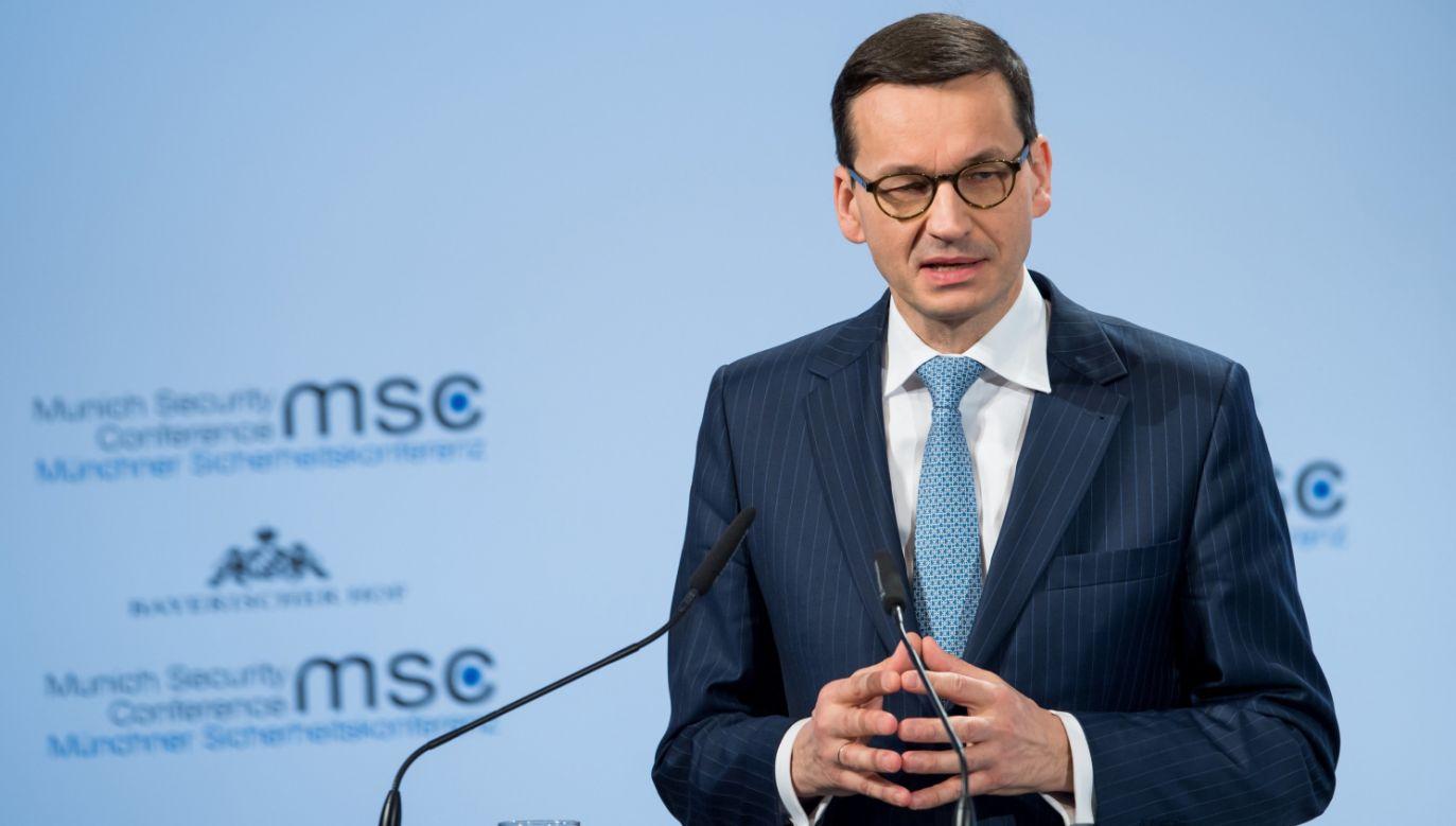 Mateusz Morawiecki (fot. PAP/EPA/KUHLMANN / HANDOUT)