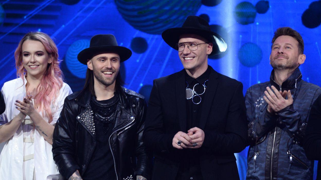 DJ Gromee nie będzie żałował podjęcia współpracy ze szwedzkim wokalistą rockowym Lukasem Meijerem. To właśnie oni wygrali i pojadą na finał do Lizbony (fot. Jan Bogacz/TVP)