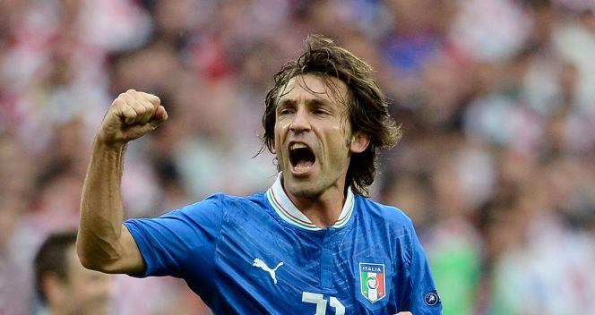 Radość Andrei Pirlo po strzeleniu gola (fot. Getty Images)