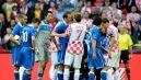 Spięcie pomiędzy piłkarzami Chorwacji i Włoch (fot. Getty Images)