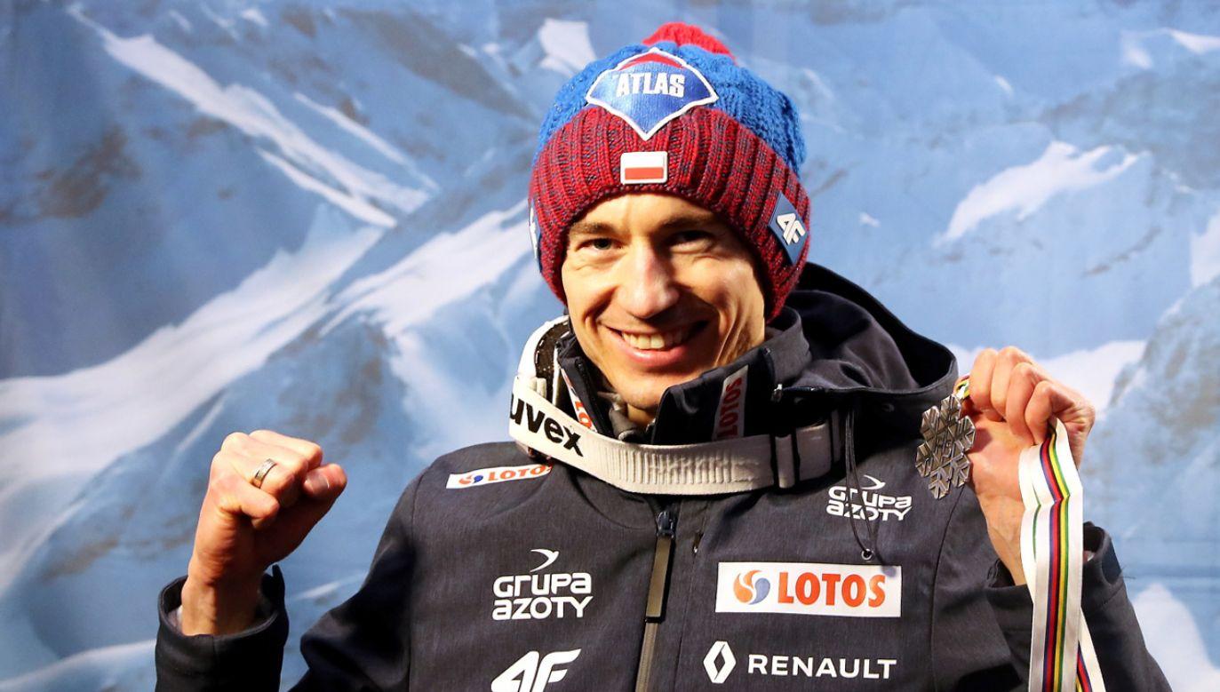 Polak Kamil Stoch został wicemistrzem świata (fot. PAP/Grzegorz Momot)
