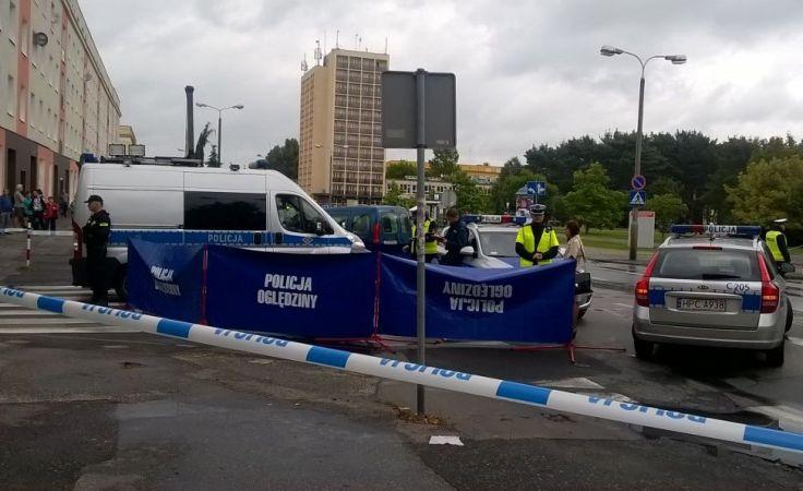 Policja wyjaśnia okoliczności tragicznego wypadku (fot. Daniel Jagielski)