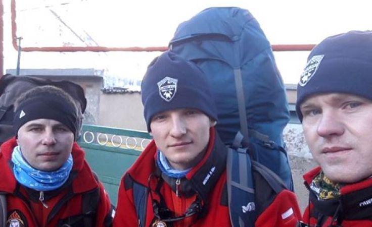 Trzech śmiałków z Polski przed wspinaczką na szczyt góry Kazbek (fot. facebook.com/kaukaz2017)
