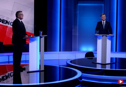 Komorowski-Duda. Debata w TVP