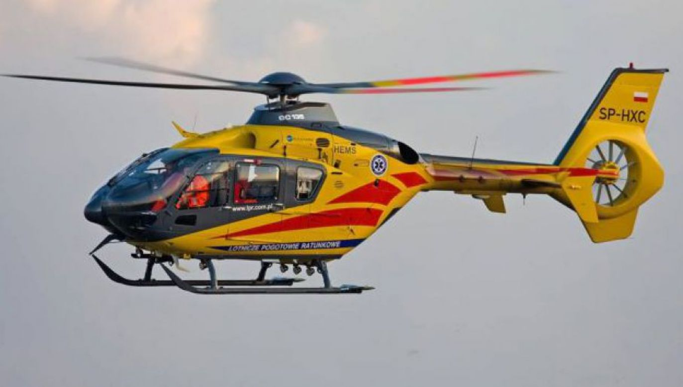 Jednego z chłopców zabrał śmigłowiec Lotniczego Pogotowia Ratunkowego (fot. FB/LPR)