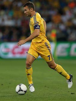 Andrij Szewczenko strzelił dla Ukrainy jedyne dwa gole na Euro (fot. Getty Images)