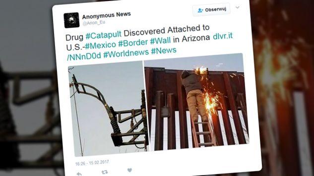 Urządzenie zostało znalezione w ubiegłym tygodniu, na południowy wschód od Tucson w Arizonie (fot. tt/Anonymous News)