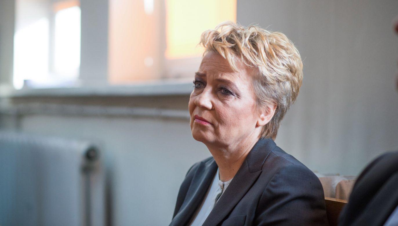 Prezydent Łodzi Hanna Zdanowska nie przyznała się do winy i odmówiła odpowiedzi na pytania prokuratora (fot. PAP/Grzegorz Michałowski)