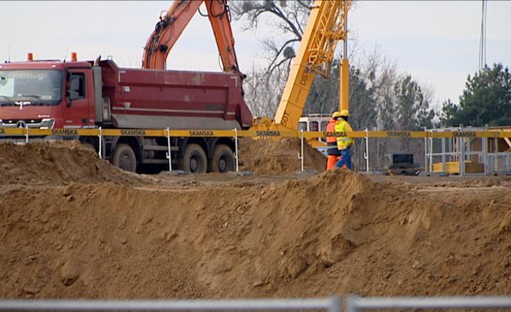 Wznowiono budowę centrum logistycznego sieci Biedronka