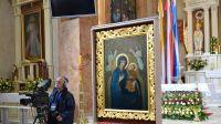 Uroczystości Koronacji Cudownego Obrazu Matki Bożej Bukowskiej Literackiej- Ekipa TVP na planie realizacyjnym