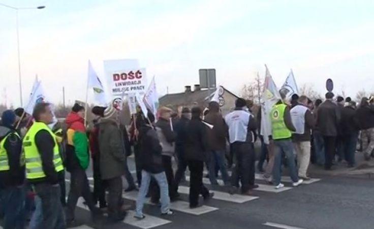 Związkowcy z Solino i Anwilu blokowali DK 25 i DK 91