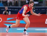 Maksim Michajłow - to jego świetna gra przyczyniła sie do rosyjskiego złota (fot. Getty Images)