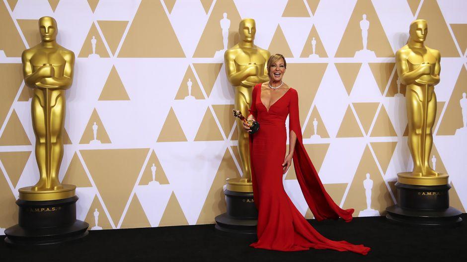 """Allison Janney, zdobywczyni Oscara za najlepszą żeńską rolę drugoplanową, w filmie """"Jestem najlepsza. Ja, Tonya"""" (fot. REUTERS/Mike Blake)"""