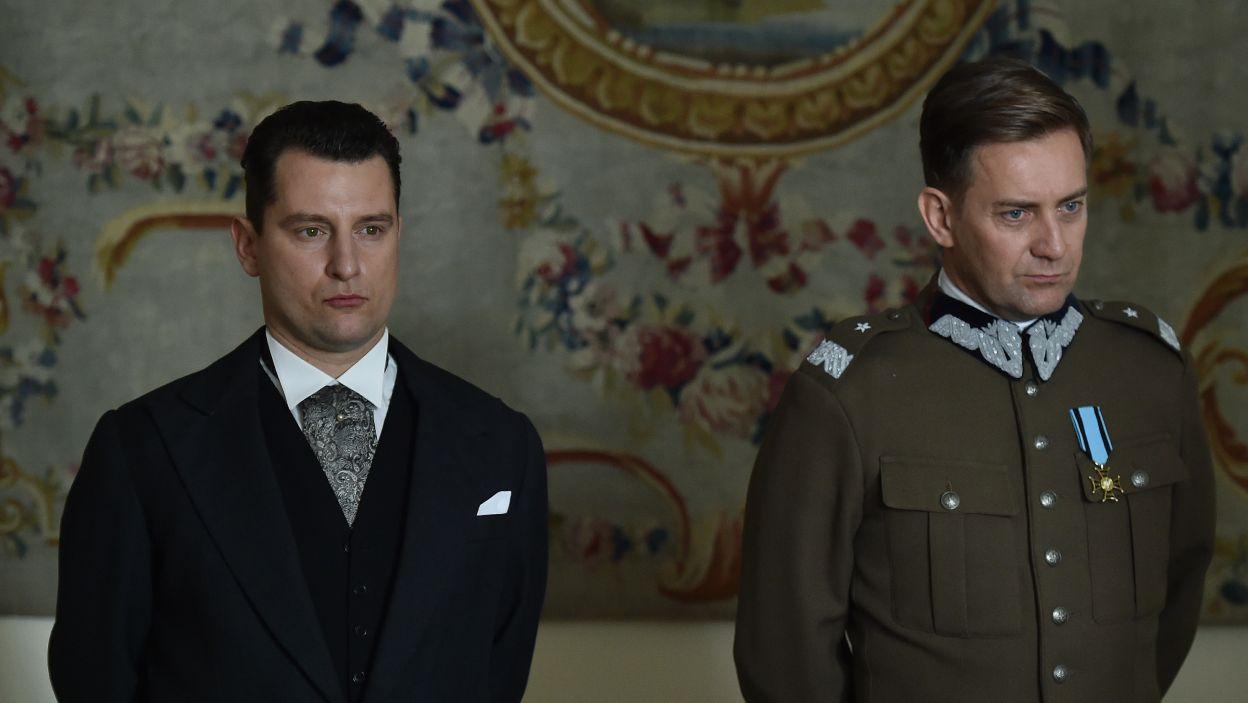 Józef Beck i Bolesław Wieniawa-Długoszowski, czyli Wojciech Zieliński i Rafał Królikowski (fot. Ireneusz Sobieszczuk/TVP)