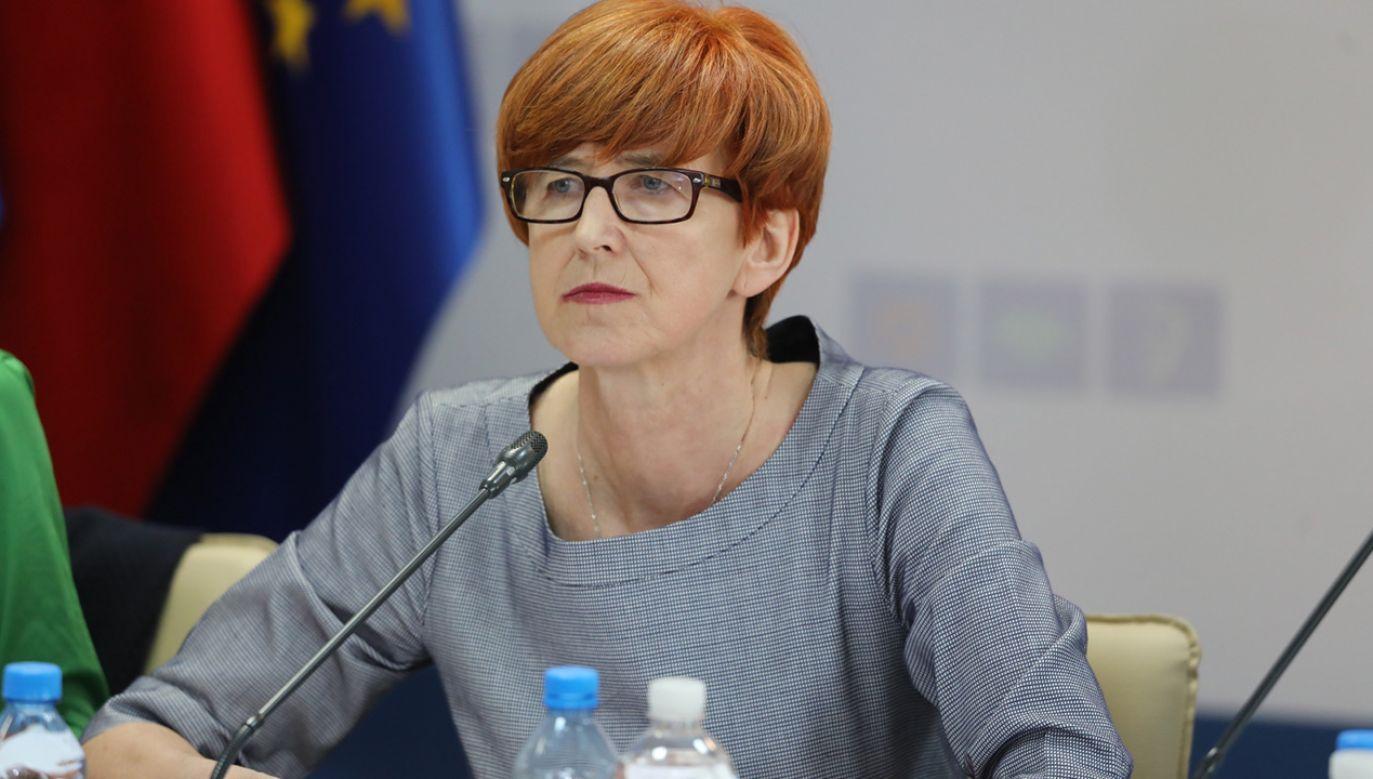 Minister pracy, rodziny i polityki społecznej Elżbieta Rafalska (fot. PAP/Tomasz Gzell)