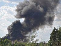 Wielki pożar składowiska śmieci w Kiełczu