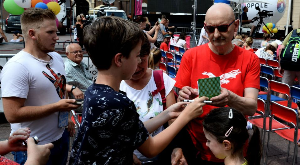 Kawiarenkę odwiedził też Sławomir Łosowski z zespołu Kombi (fot. TVP)