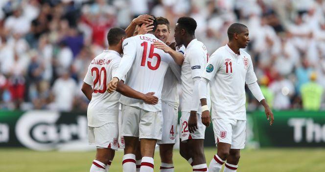 Radość Anglików z prowadzenia 1:0 (fot. Getty)