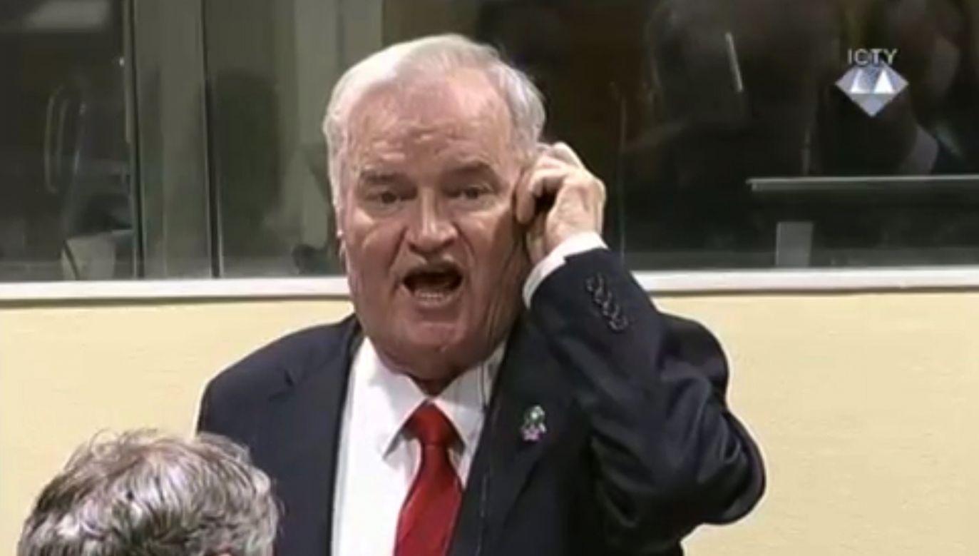 Ratko Mladic został uznany za winnego ludobójstwa, zbrodni wojennych i zbrodni przeciw ludzkości (fot. PAP/EPA/ICTY TV / HANDOUT)