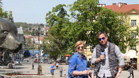 Ilona Małek i Marcin Pawlak na przemyskim Rynku, fot. Jacek Tutak