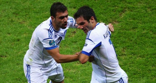 Grecy wygrali z Rosją 1:0 i awansowali do ćwierćfinału (fot. Getty Images)