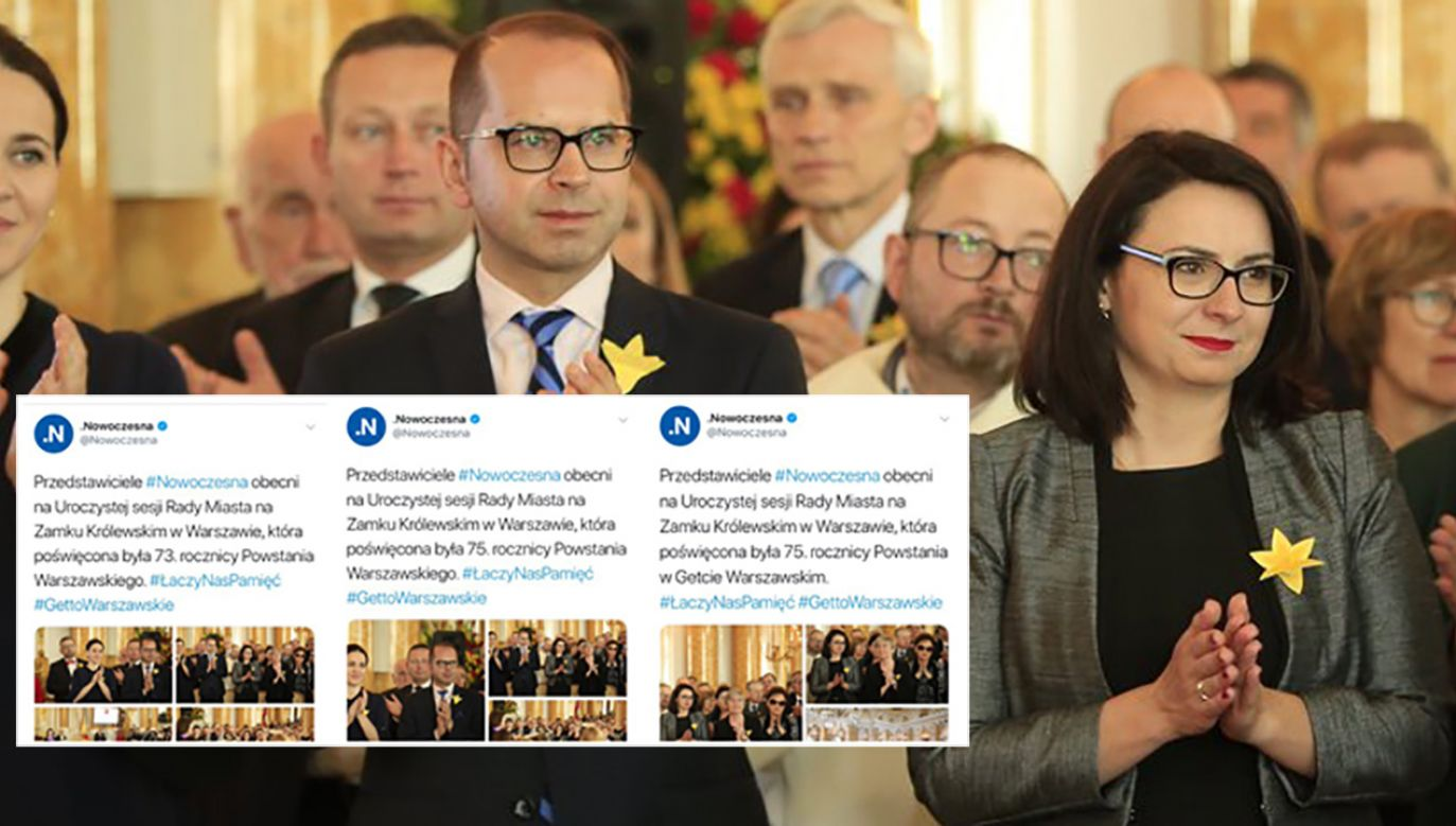 Administrator potrzebował aż trzech prób, żeby napisać poprawnego tweeta (fot. tt/@Nowoczesna)