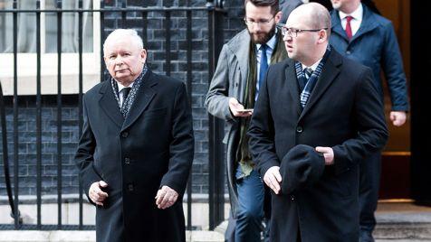 Szef PiS spotkał się w Londynie z premier Wielkiej Brytanii (fot.PAP/STR)