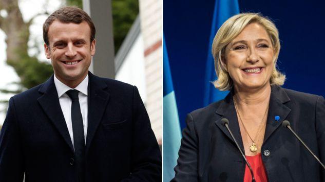 Emmanuel Macron i Marine Le Pen (fot. PAP/EPA/YOAN VALAT, OLIVIER HOSLET)