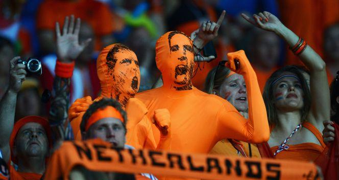 Szaleni kibice Oranje mieli chwilę radości (fot. Getty)