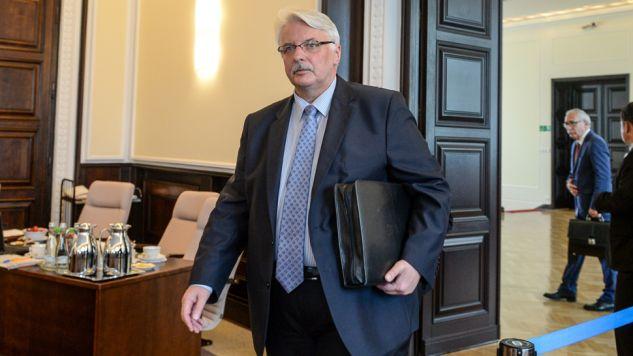 Witold Waszczykowski planuje spotkanie szefów dyplomacji krajów UE (fot. PAP/Marcin Obara)