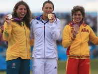 W K1 kobiet zwyciężyła Francuzka Emilie Fer przed Australijką Jessicą Fox i Hiszpanką Maialen Chourraut (fot. Getty  Images)