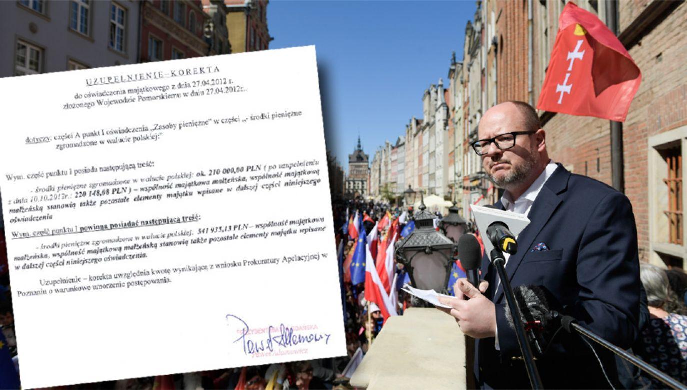 Paweł Adamowicz jest oskarżony o nieprawidłowości w oświadczeniach majątkowych (fot. PAP/Adam Warżawa)