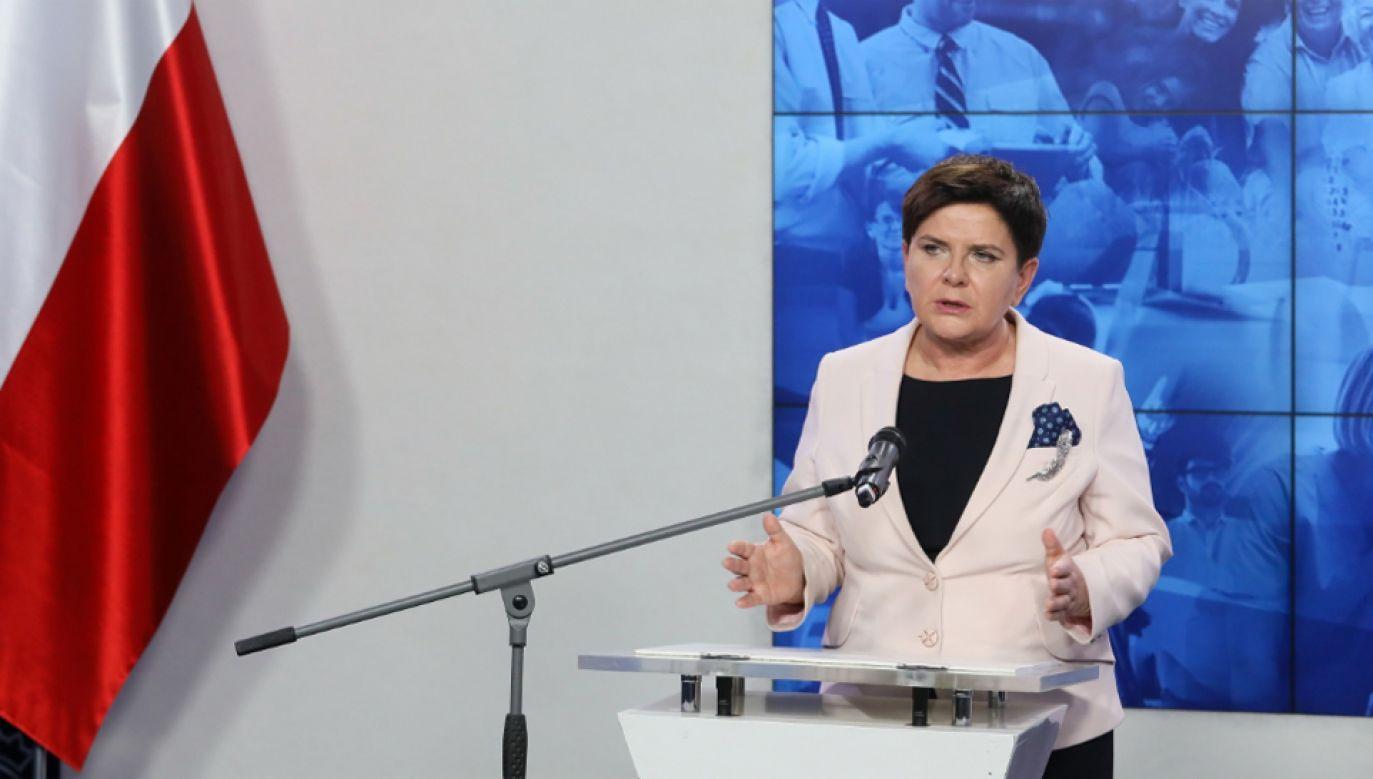 Premier Beata Szydło weźmie udział w unijnym szczycie społecznym (fot. PAP/Paweł Supernak)