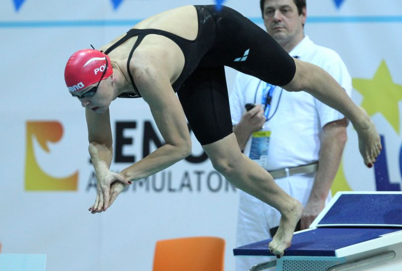 Otylia Jędrzejczak zdobyła w Poznaniu siedem medali (fot. PAP/Adam Ciereszko)