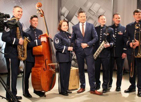 Zespół jazzowy Amerykańskich Sił Powietrznych w TVP3 Rzeszów