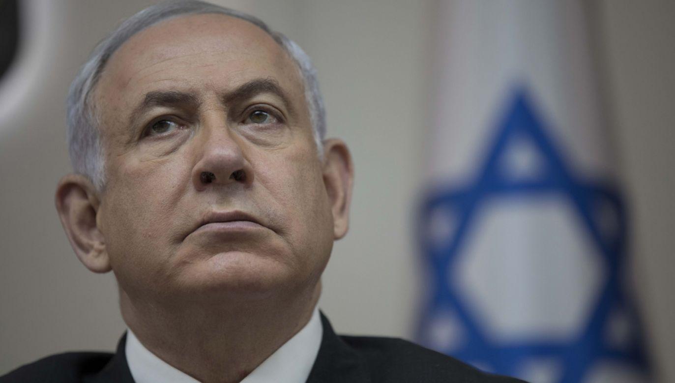 Premier Izraela Benjamin Netanjahu (fot. PAP/EPA/ABIR SULTAN)