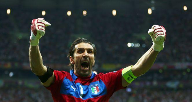 Radość bramkarza Włoch Gianluigiego Buffona (fot. Getty Images)