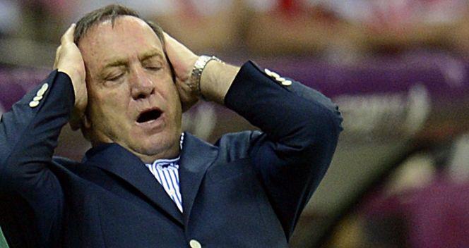 Dick Advocaat był zawiedziony grą swoich piłkarzy (fot. PAP/EPA)