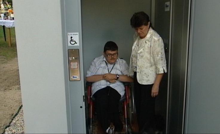 Spełniły się marzenia o windzie dla 24-letniego Artura Kity